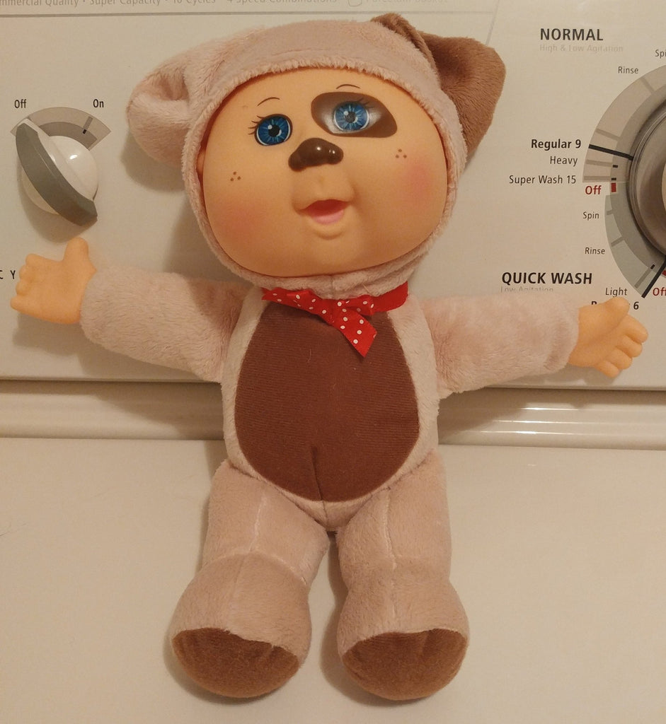 Cabbage Patch Kid Baby Puppy Brown Eye Patch