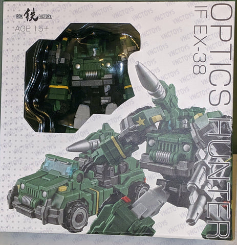Iron Factory EX38 Optics Hunter Hound Transformer Figure