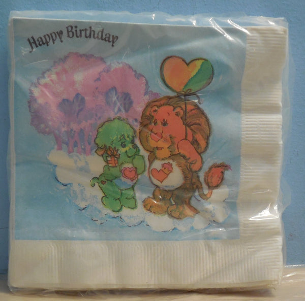 Carebears Cousins Napkins Brave Heart Gentle Heart Unopened - Super collection edition or gift idea. Item comes from a non-smoking place.