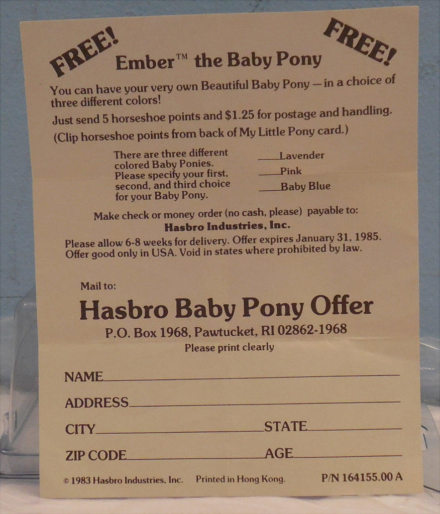 Baby Ember Mail Order My Little Pony
