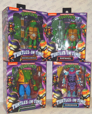 Ninja Turtles In Time 8bit Neca Wave 2 Set Of 4