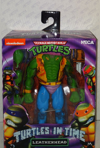 Leatherhead Ninja Turtles In Time 8bit Neca Figure