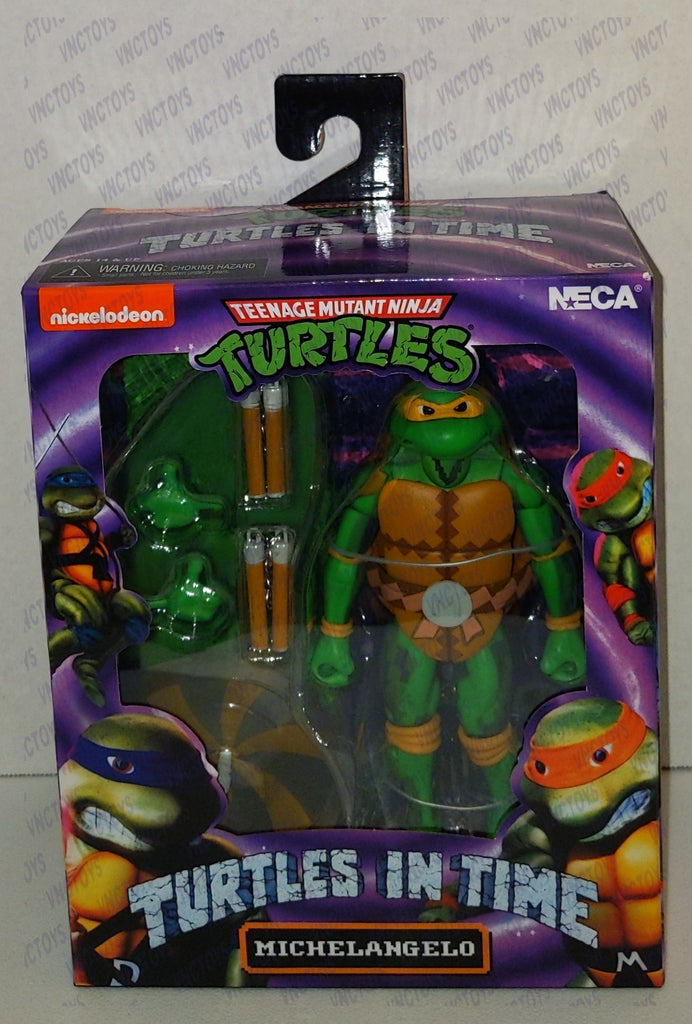 Michelangelo Ninja Turtles In Time 8bit Neca Figure