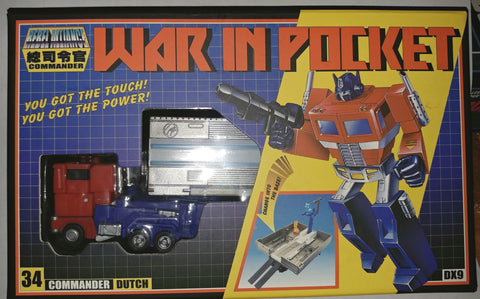 War in Pocket DX9 Toys Dutch Transformers