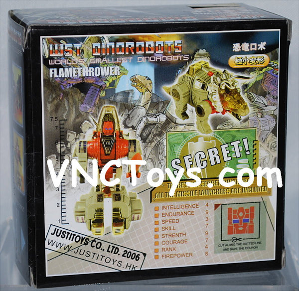 Flamethrower Transformers Dinobot WST