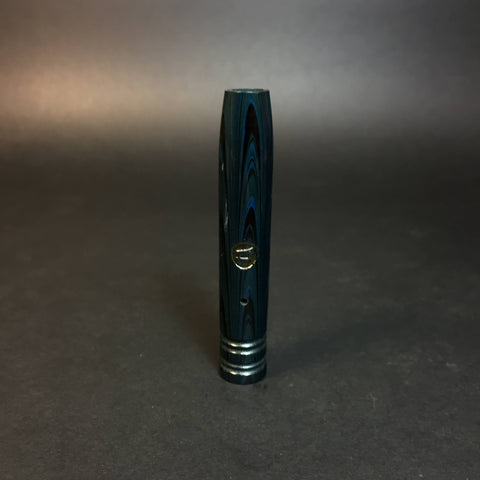 #1459 Black & Blue Ebonite DynaVap Mid Section - Stem - XL