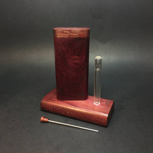 FutoStash X - Purpleheart - Glass One Hitter - Stash Tool - One Hitter Box - Dugout - Made in Canada
