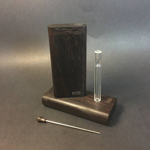 FutoStash X - Wenge - Glass One Hitter - Stash Tool - One Hitter Box - Dugout - Made in Canada