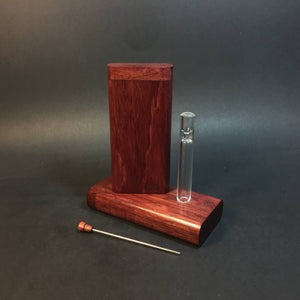 FutoStash G - Purpleheart - Glass One Hitter - Stash Tool - One Hitter Box - Dugout - Made in Canada