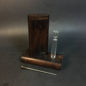 FutoStash G - Wenge - Glass One Hitter - Stash Tool - One Hitter Box - Dugout - Made in Canada
