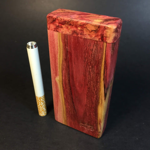 Galaxy Burl Dugout #246 - Futo Sprouts - Stabilized Lilac wood