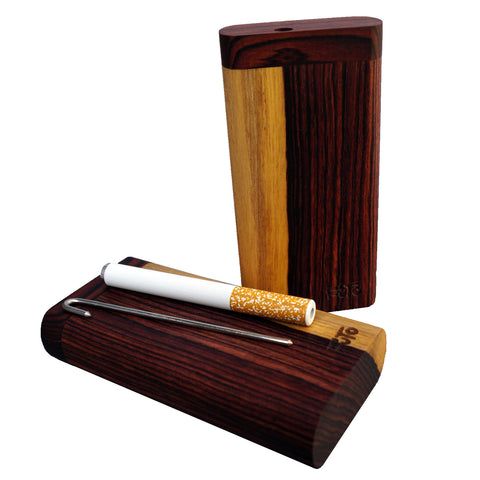 Futo X Kingwood - One Hitter - Rare Exotic Rose Wood Dugout - with Poker - Large Stash - Made in Canada