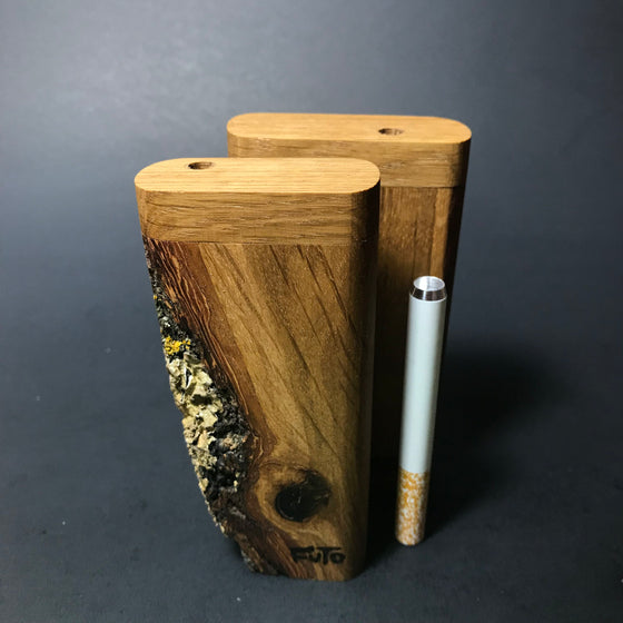 Futo M - Live Edge Oak Dugout - One Hitter Box - Made in Canada
