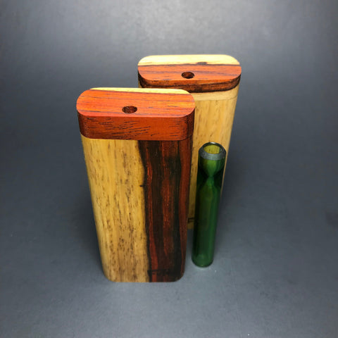Futo G - Two Tone Cocobolo Dugout - Glass One Hitter Box - Made in Canada