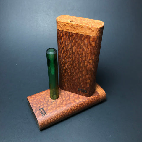 Futo GX - Leopardwood Dugout - Glass One Hitter Box - Made in Canada