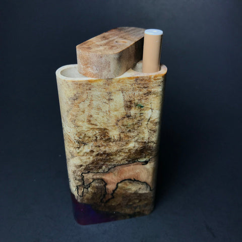 Galaxy Burl Dugout #79 - Futo Model X - Natural - Stabilized Burl - One Hitter Box - Numbered Set - Made in Canada
