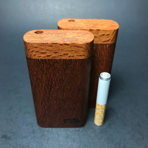 Futo M - Micro - Leopardwood Dugout - Short One Hitter Box - Made in Canada