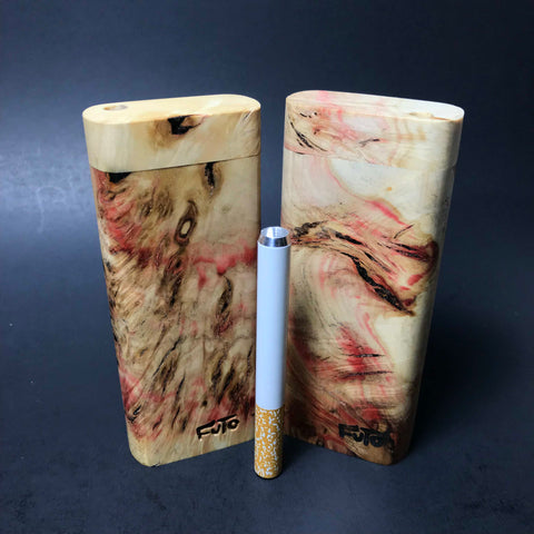 Futo M -  Box Elder Figured / Burl Dugout - One Hitter - Made in Canada