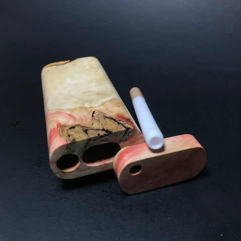 Galaxy Burl Dugout #50 - Futo Model M - Colored - Stabilized Burl - One Hitter Box - Numbered Set - Made in Canada