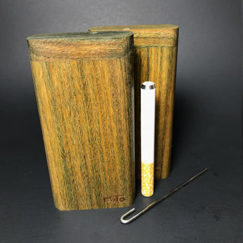 Futo X - Vera Wood - Argentine Lignum Vitae - Highly Aromatic - Dark Green - One Hitter Box / Dugout - Made in Canada