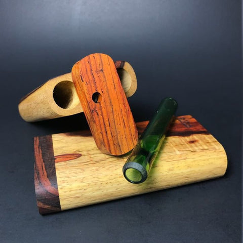 Futo GX - Two Tone Cocobolo Dugout - Glass One Hitter Box - Made in Canada