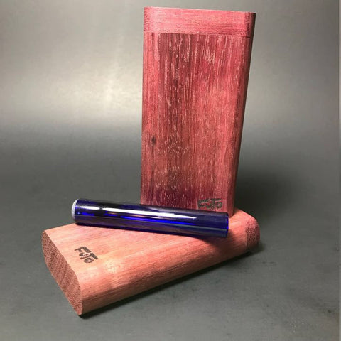 Futo GX Purpleheart Dugout - Glass One Hitter Box - Made in Canada