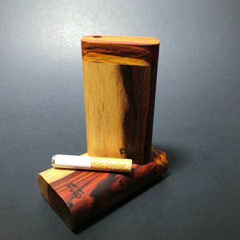 Futo Micro - Two Toned Cocobolo Dugout - One Hitter Box - Made in Canada