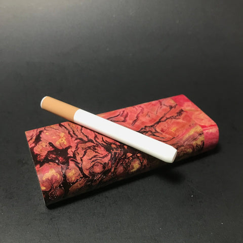 "Galaxy Burl Dugout #45 ""Ravines"" - Futo Model M - Colored - Stabilized Burl - One Hitter Box - Numbered Set - Made in Canada"