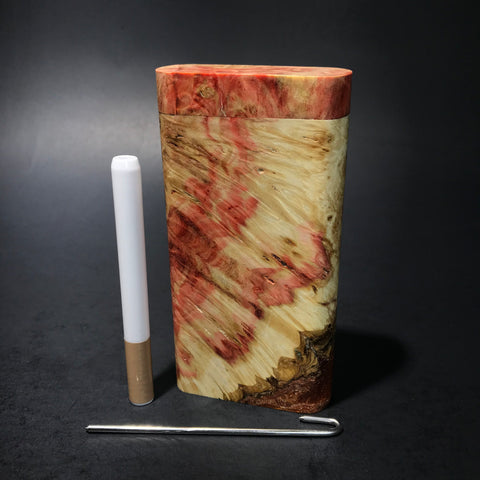 Galaxy Burl Dugout #107 - Futo Model X - Natural - Stabilized Burl - One Hitter Box - Numbered Set - Made in Canada