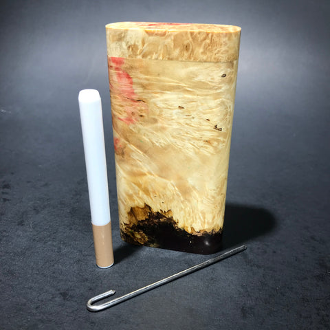 Galaxy Burl Dugout #116 - Futo Model X - Natural - Stabilized Burl - One Hitter Box - Numbered Set - Made in Canada