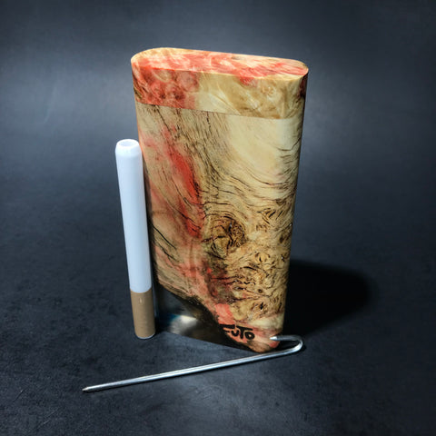 Galaxy Burl Dugout #119 - Futo Model X - Natural - Stabilized Burl - One Hitter Box - Numbered Set - Made in Canada