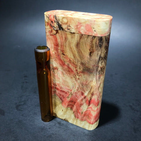 Galaxy Burl Dugout #128 - Futo Model GX - Natural - Stabilized Boxelder Burl  - One Hitter Box - Numbered Set - Made in Canada