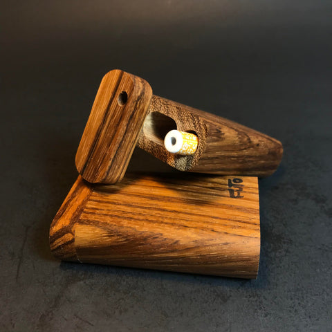 Futo M - Micro - Zebrawood - Dugout  - Short One Hitter Box - Made in Canada