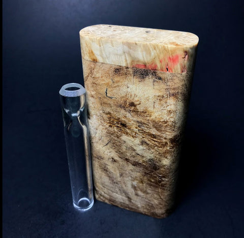 Galaxy Burl Dugout #91 - Futo Model GX - Natural - Stabilized Burl - One Hitter Box - Numbered Set - Made in Canada