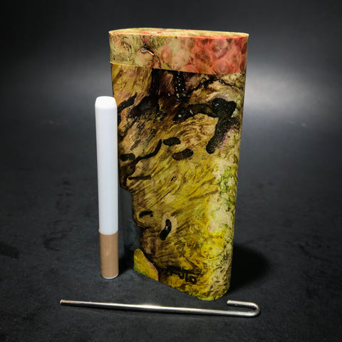 Galaxy Burl Dugout #130 - Futo Model X - Colored - Stabilized Burl - One Hitter Box - Numbered Set - Made in Canada