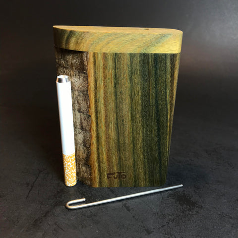 Futo X - Live Edge Verawood - Argentine Lignum Vitae - One Hitter Box - Highly Aromatic - Green Exotic Wood - Made in Canada