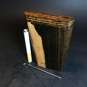 Futo X - Live Edge Bocote Dugouts - One Hitter Boxes - Made from Special Live Edge Exotic Wood - Made in Canada
