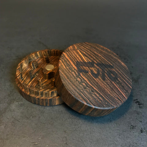 Futo Bocote Grinder - Exotic Wood - CNC Machined - Made in Canada