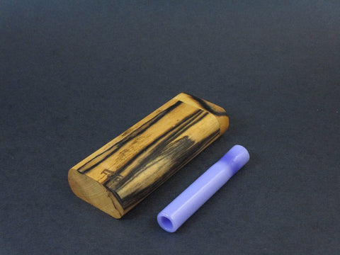 Futo G - Black and White Ebony - Glass Dugout for 12mm One Hitter