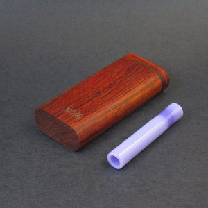 Futo G - Cocobolo Dugout for 12mm Glass One Hitter
