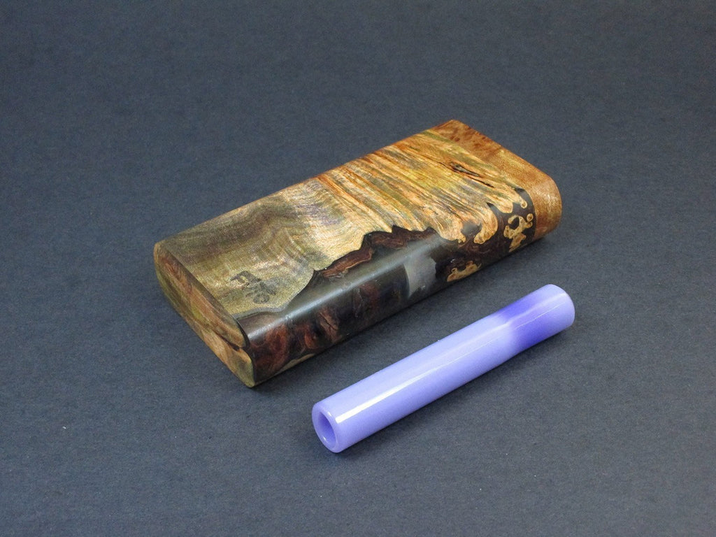 Galaxy Burl Dugout #221 - Futo Model GX - Stabilized Burl  - One Hitter Box - Numbered Set - Made in Canada