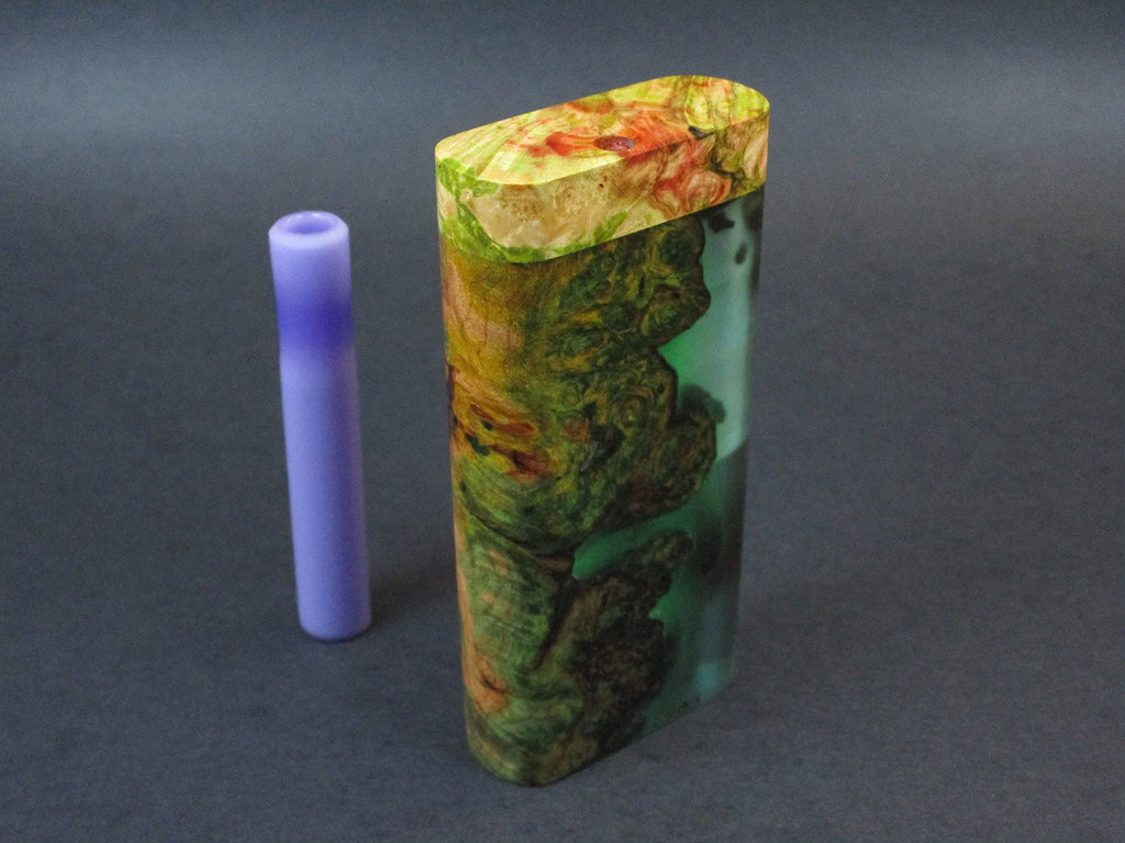 Galaxy Burl Dugout #223 - Futo Model GX - Glow in the Dark - Stabilized Burl  - One Hitter Box - Numbered Set - Made in Canada