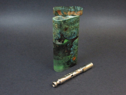 Galaxy Burl FutoStash #38 - Stabilized Burl  - Glow in the Dark - Vaporizer Case - DynaVap - Numbered Set - Made in Canada