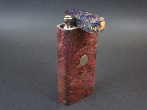 Galaxy Burl FutoStash #56 - Stabilized Burl  - Vaporizer Case - DynaVap - Numbered Set - Made in Canada