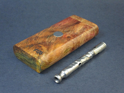 Galaxy Burl FutoStash #65 - Stabilized Burl  - Vaporizer Case - DynaVap - Numbered Set - Made in Canada