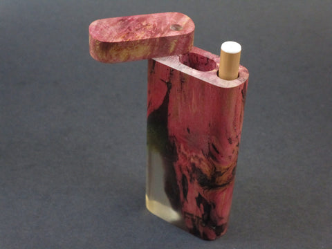 Galaxy Burl Dugout #203 - Futo Model M  - Stabilized Burl - One Hitter Box - Numbered Set - Made in Canada