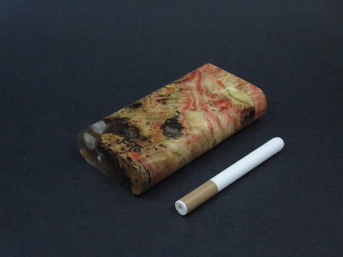 Galaxy Burl Dugout #206 - Futo Model X - Stabilized Burl - One Hitter Box - Numbered Set - Made in Canada