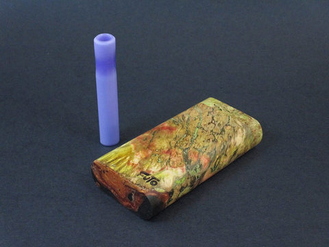 Galaxy Burl Dugout #215 - Futo Model GX - Stabilized Burl  - One Hitter Box - Numbered Set - Made in Canada