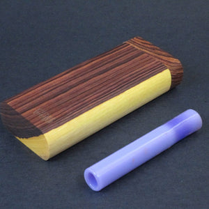 Futo G - Two Toned Kingwood Dugout for 12mm Glass One Hitter