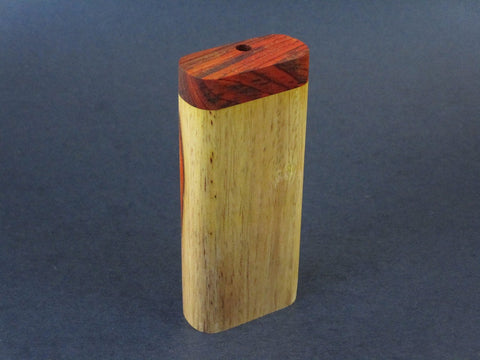 Futo G - Two Toned Cocobolo Dugout for 12mm Glass One Hitter